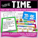 Telling Time to the Hour, Half Hour, Quarter Hour, and Five Minutes
