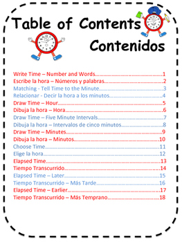 Telling Time in English and Spanish