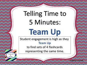 Telling Time in Five Minute Intervals--Team Up