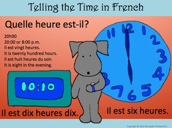Telling Time in French with Pepper the Pooch