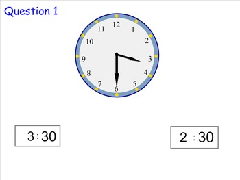Telling Time in Half Hours