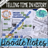 Telling Time in History Doodle Notes and Digital Guided Notes