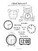 Telling Time in Spanish! (7 fun worksheets!)