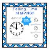 Telling Time in Spanish - Boom Cards