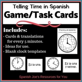 Telling Time in Spanish Clocks, Flashcards & Game