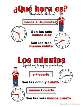 Telling Time in Spanish Grammar Notes