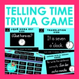 Telling Time in Spanish Jeopardy-Style Trivia Game