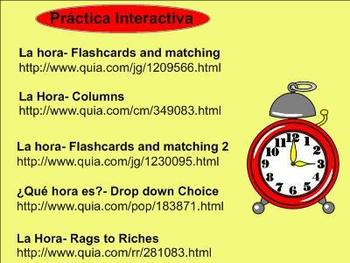 Telling Time in Spanish Lesson
