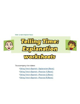 Telling Time in Spanish Packet