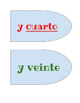 Telling Time in Spanish - Petals for your Reloj