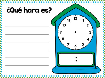 Telling Time in Spanish PowerPoint and Guided Notes