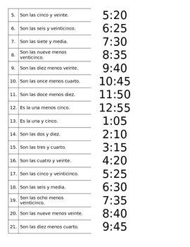 Telling Time in Spanish - ¿Qué hora es?