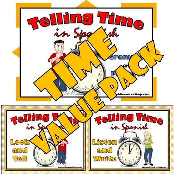 Telling Time in Spanish Value Pack