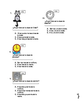 Telling Time in Spanish - Worksheet or Dialogue Activity