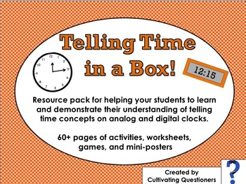 Telling Time in a Box!: Posters, Resources, and Activity Megapack