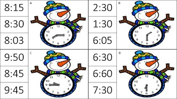 Telling Time is Snow Easy!