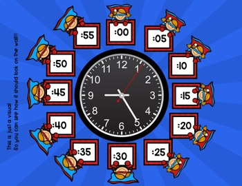 Telling Time is our SUPER POWER! CLOCK LABELS AND CENTER ACTIVITIES