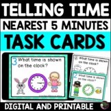 Telling Time (nearest 5 minutes) Task cards