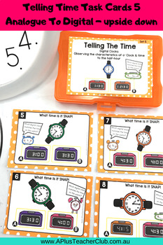 Telling Time o'clock & half past Task Cards