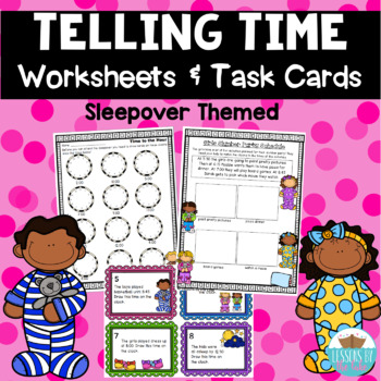 Telling Time on Analog Clocks MEGA Pack- Worksheets & Cent