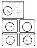 Telling Time on Digital & Analog Clocks SCOOT Activity