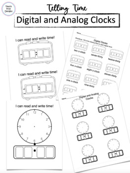 Telling Time on Digital and Analog Clocks