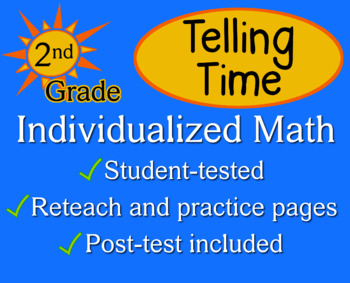 Telling Time, 2nd grade - Individualized Math - worksheets