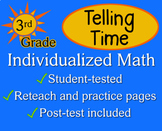 Telling Time, 3rd grade - worksheets - Individualized Math