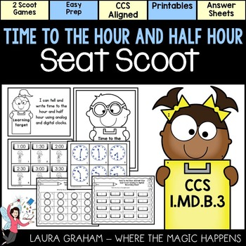 Telling Time to the Hour and Half Hour  Scoot 1.MD.B.3