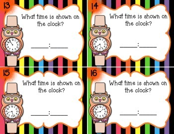 Telling Time to 1 minute Set 1 w/wo QR Codes
