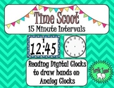 Telling Time to 15 Minute Intervals Scoot Game