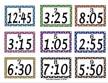 Telling Time to 5 Minute Intervals Scoot Game