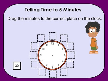 Telling Time to 5 Minutes - 2nd Grade Common Core 2.MD.C.7