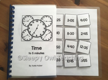Telling Time to 5 Minutes Adapted Book