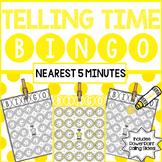 Telling Time BINGO : To 5 Minutes