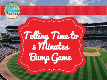 Baseball Themed Telling Time to 5 Minutes Game 2.MD.7