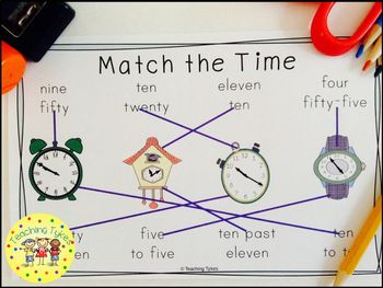 Telling Time to 5 Minutes Interactive Book