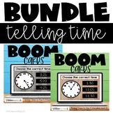 Telling Time to 5 Minutes Bundle Boom Cards Bundle Distanc