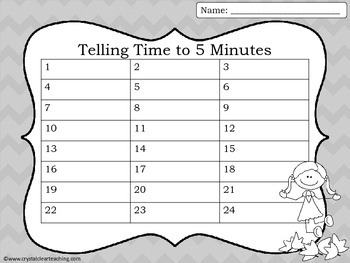 Telling Time to 5 Minutes - Fall Themed Task Cards