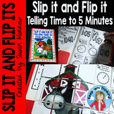 Telling Time  to 5 Minutes Self Checking Math Puzzles: Sli