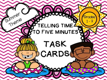 Telling Time to 5 Minutes:  Summer Theme