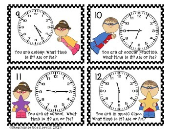 Telling Time to 5 Minutes (Super Hero, Games)