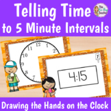 Telling Time to the Nearest 5 Minutes Drawing the Hands on a Clock