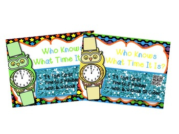 Telling Time to 5 minutes Bundle w/wo QR Codes