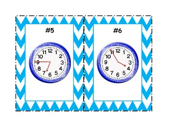 Telling Time to 5 minutes - Write the room