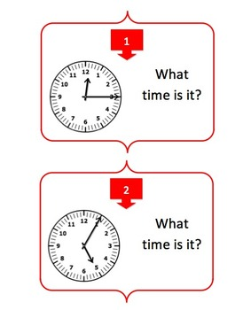 Telling Time to Five Mintues - Task Cards and Engaging Review Activity