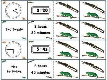 Telling Time to Five Minutes (Memory Match)