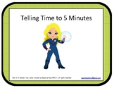 Telling Time to Five Minutes Task Cards