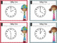 Telling Time to Hour & Half Hour Task Cards and Game (Incl