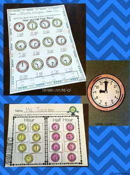 Telling Time to Hour and Half Hour on an Analog Clock